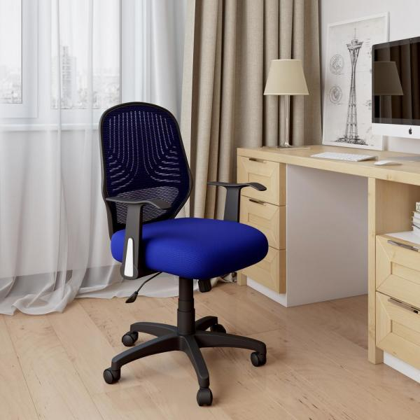 CorLiving Workspace Blue Mesh Office Chair