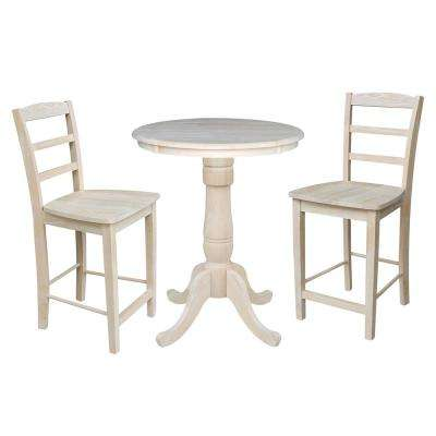 Solid Wood 3 Piece Ready To Finish Dining Set