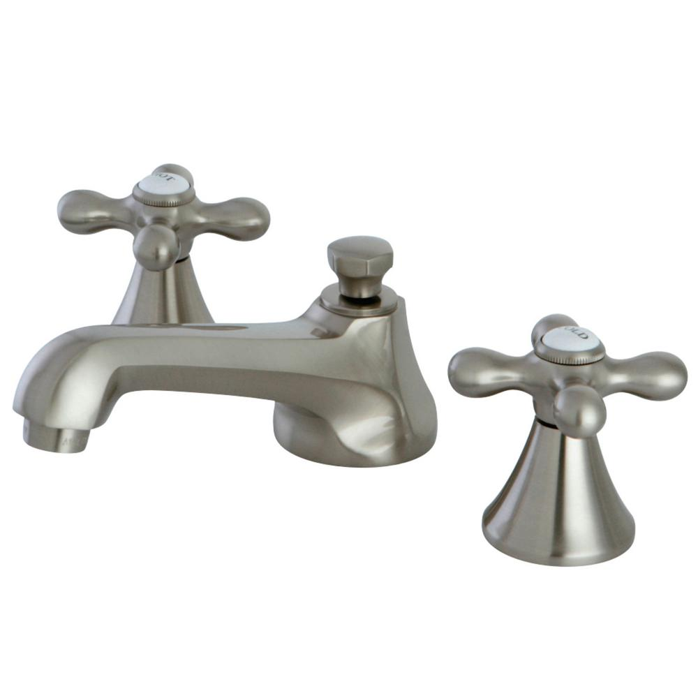 Kingston Brass Modern 8 In. Widespread 2-Handle Bathroom Faucet In Brushed Nickel-HKS4478AX