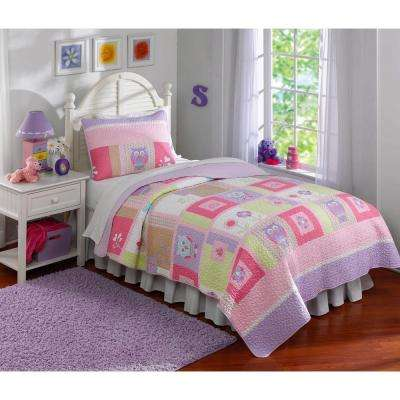 Happy Owls Full/Queen Quilt with 2 Shams