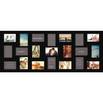 4 in. x 6 in. Black Collage Picture Frame