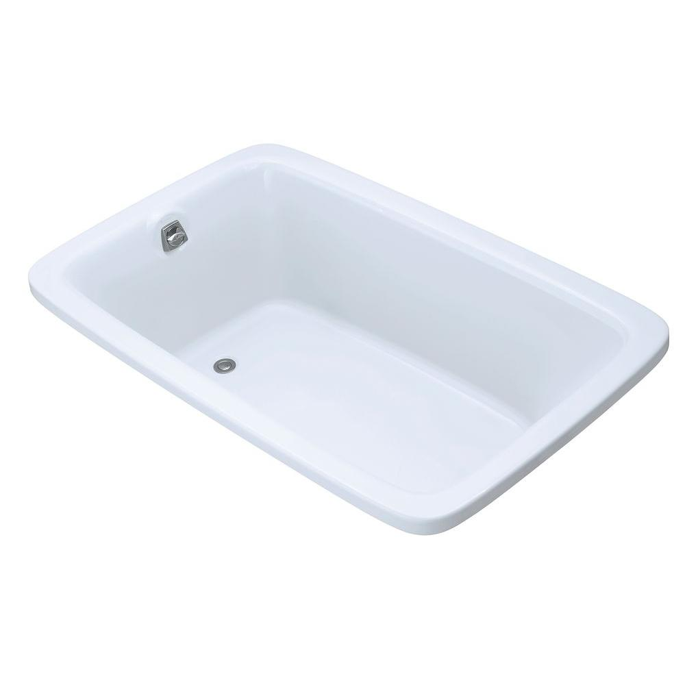 Bancroft 5.5 ft. Acrylic Rectangular Drop-In Non-Whirlpool Bathtub in White
