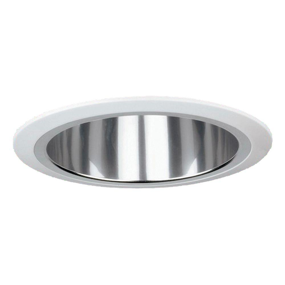 Yosemite Home Decor Recessed Lighting 7.37 in. Horizontal Reflector Trim for Recessed Lights, Clear-DISCONTINUED