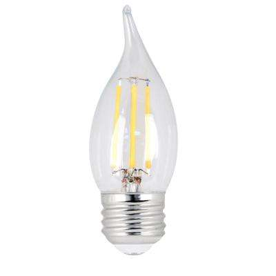 25W Equivalent Soft White CA10 Dimmable Clear Filament LED Medium Base Light Bulb (Case of 48)