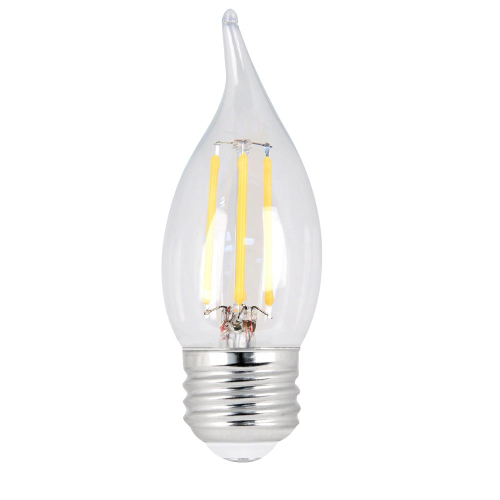 25W Equivalent Soft White CA10 Dimmable Clear Filament LED Medium Base