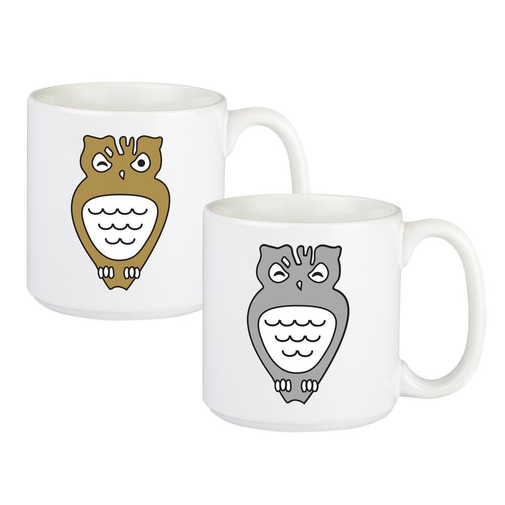20 oz. Owl Large Coffee Mug Set