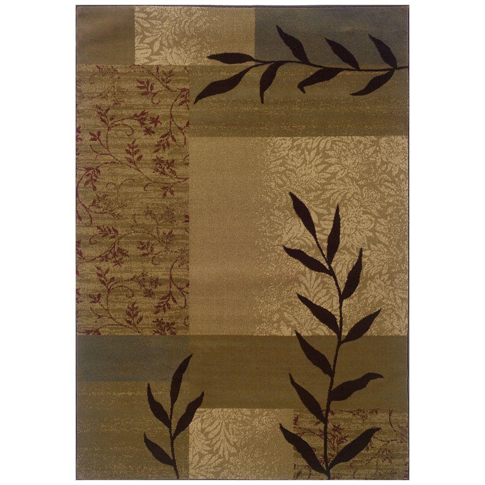 Oriental Weavers Kiawah Chadwick Beige 5 ft. x 7 ft. 6 in. Area Rug