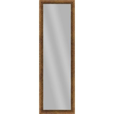 Large Rectangle Gold Art Deco Mirror (51.875 in. H x 15.875 in. W)