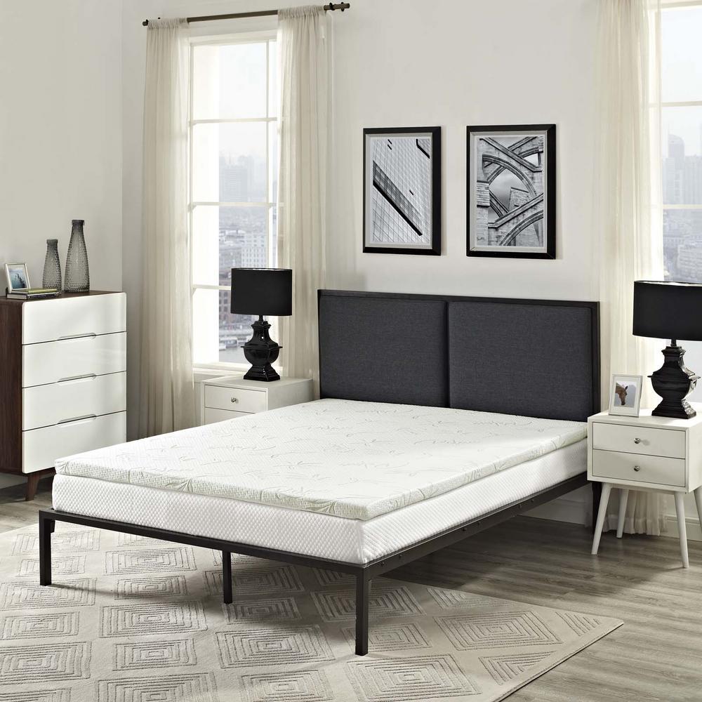 Relax King 2 in. Gel Memory Foam Mattress Topper in White