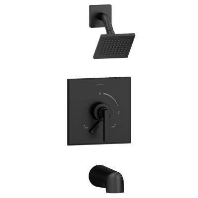 Duro Single-Handle Tub/Shower Valve Trim Kit in Matte Black (Valve Not Included)