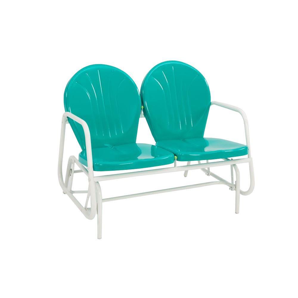 Retro Emerald Green 2-Seat Glider - Retro - Patio Furniture - Outdoors - The Home Depot