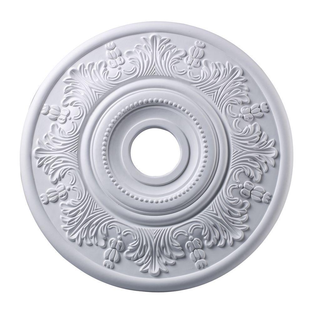 Titan Lighting Laureldale 21 in. White Ceiling Medallion