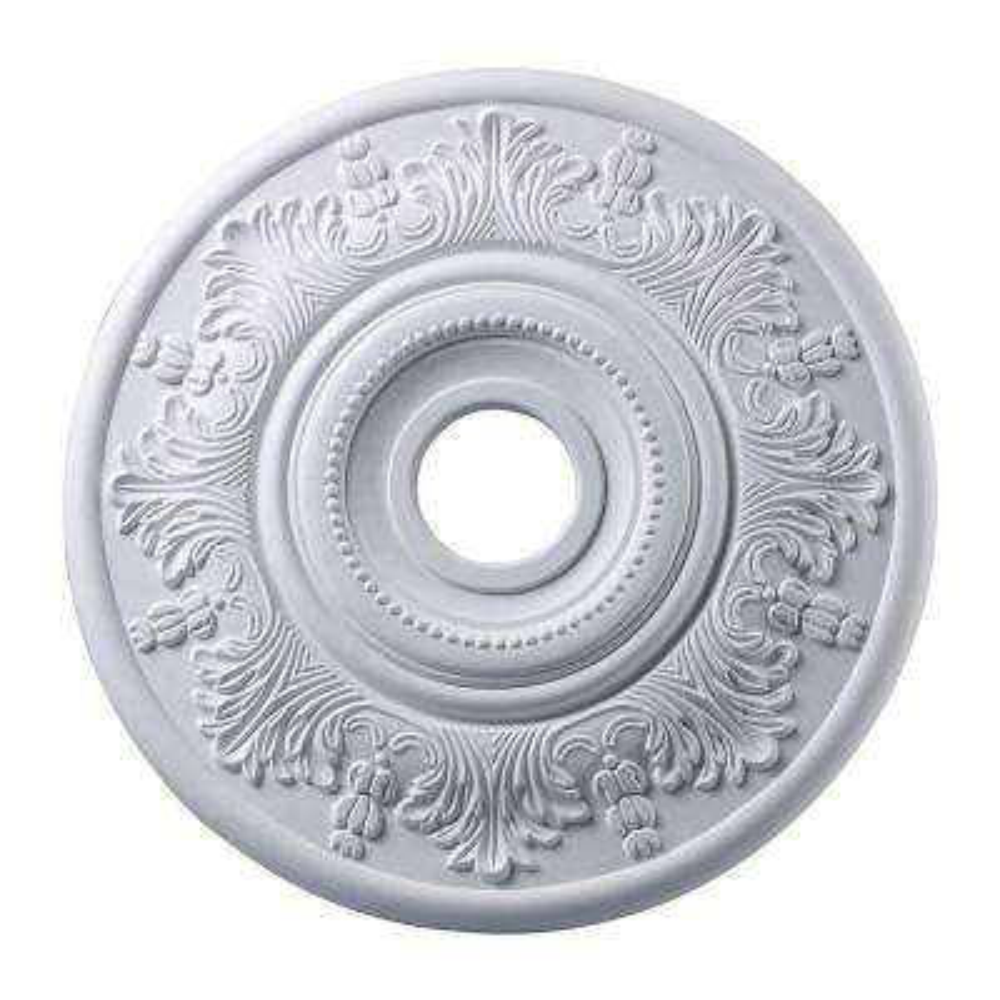 Laureldale 21 in. White Ceiling Medallion