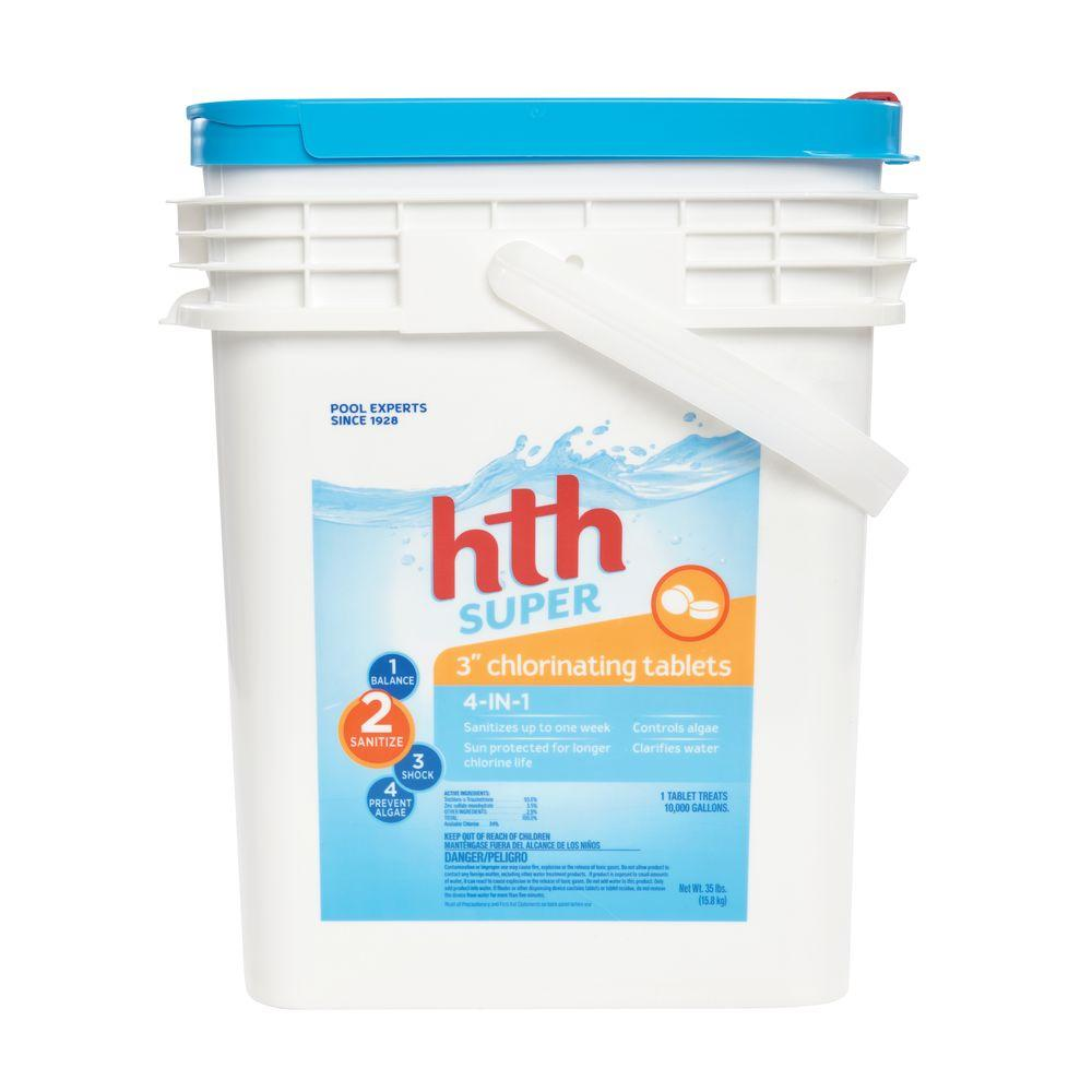 Ordinaire HTH 3 In. 35 Lb. Super Chlorinating Tablet
