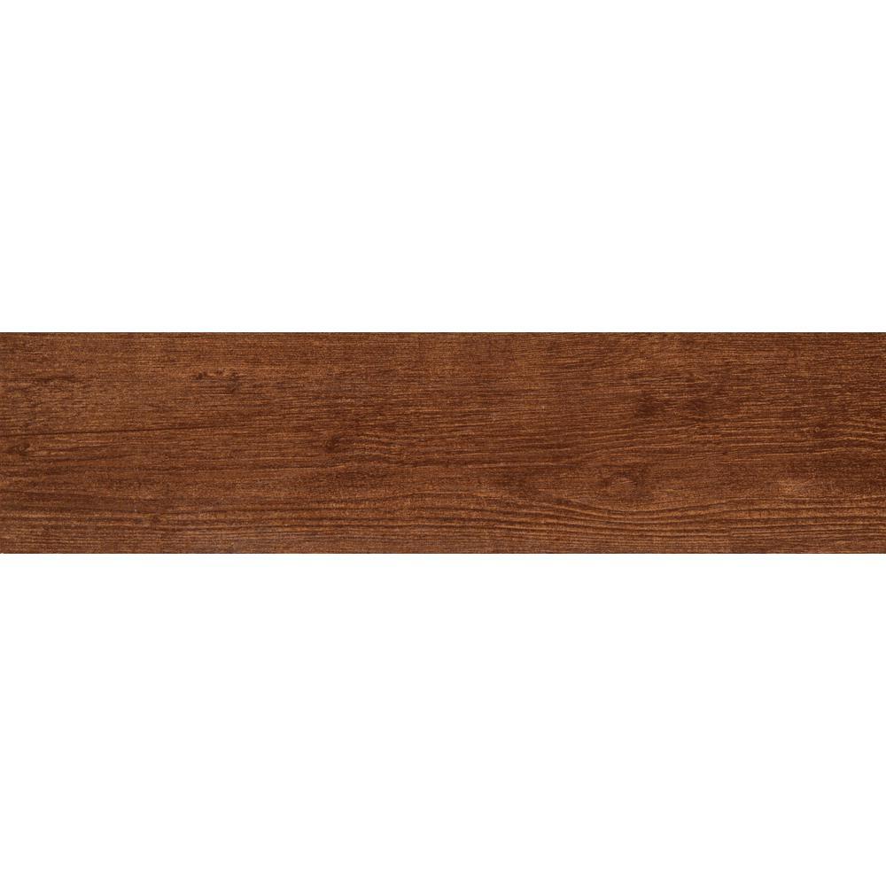 MSI Sonoma Oak 6 in. x 24 in. Glazed Ceramic Floor and Wall Tile (14 ...