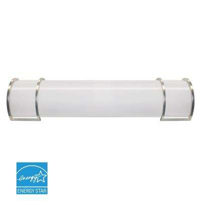24 in. Brushed Nickel LED Vanity Light Bar