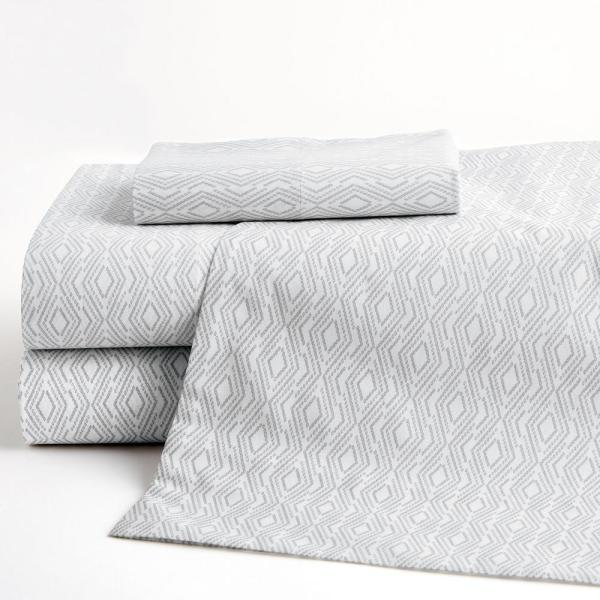The Company Store Lacey Geo 200-Thread Count Cotton Percale Standard Pillowcase