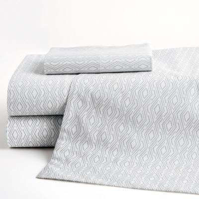 Lacey Geo 200-Thread Count Cotton Percale Sheet Set