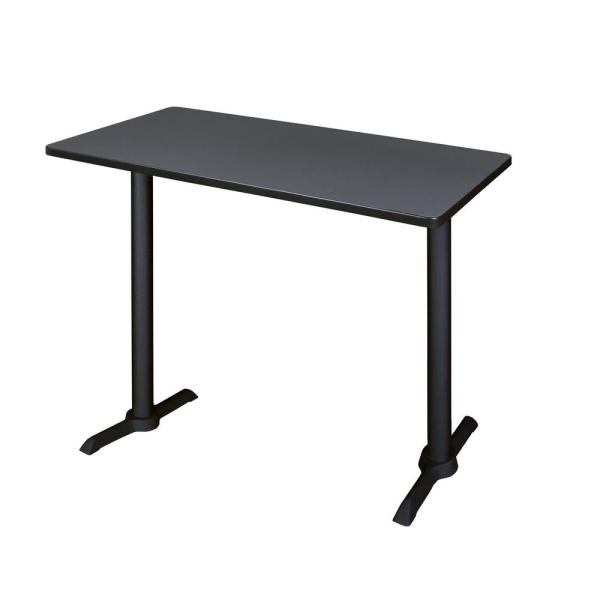 Regency Cain Grey 48 in. W Cafe High Training Table MCTRCT4824GY