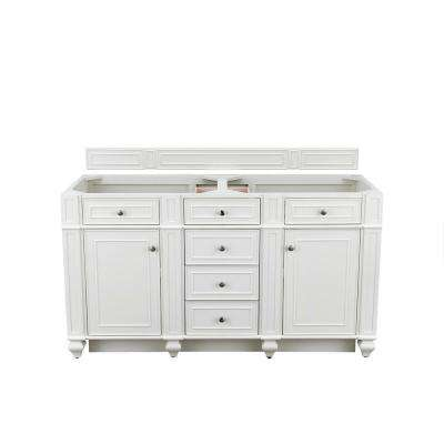 Bristol 60-in. W Double Vanity Cabinet Only in Cottage White