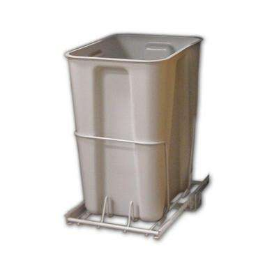 6 Gal. White Pull-Out Trash Can