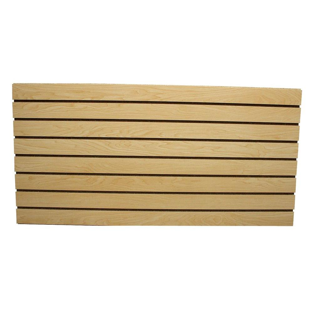 Garageescape 2 Ft X 4 Ft Maple Slatwall Easy Panel 2