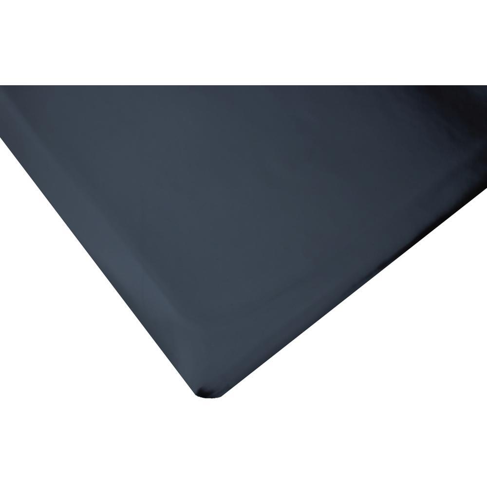 Marbleized Tile Top Anti-Fatigue Black 4 ft. x 2 ft. x 7/8 in. Vinyl Commercial Mat