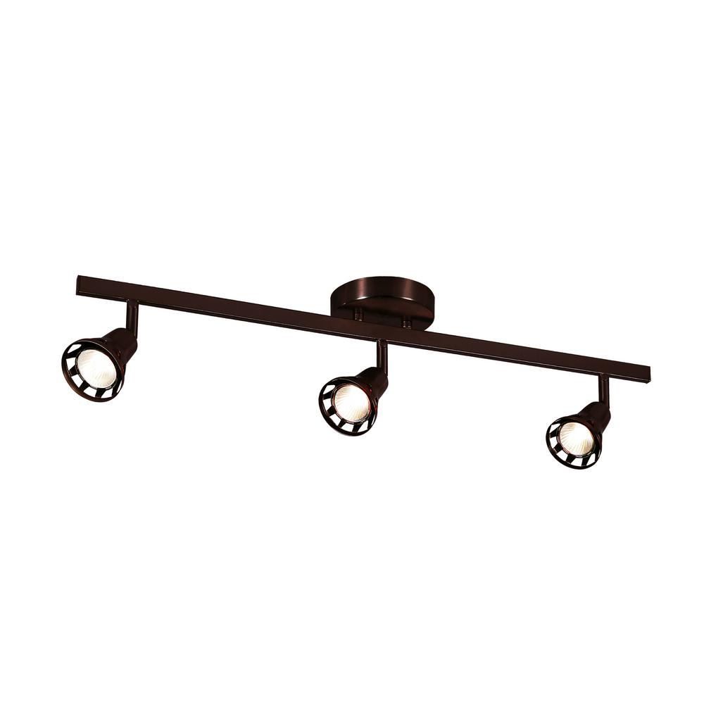 Renew 2.3 ft. 3-Light Rubbed Oil Bronze Track Lighting Kit