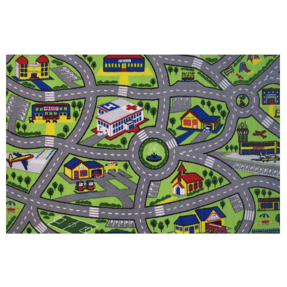 Fun Rugs Fun Time Driving Fun Multi 6 Ft. 8 In. X 10 Ft