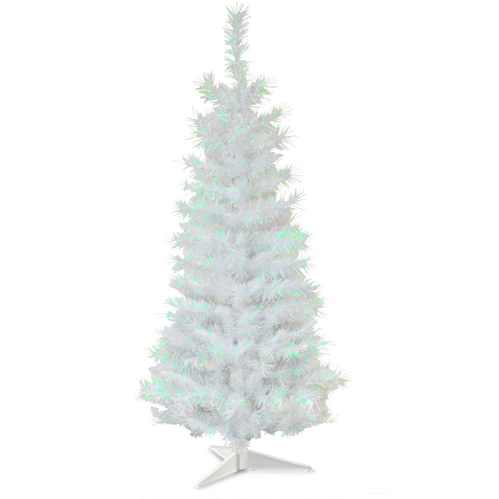 2 Ft White Christmas Tree: National Tree Company 3 Ft. White Iridescent Tinsel
