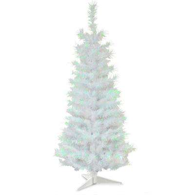 3 ft. White Iridescent Tinsel Artificial Christmas Tree
