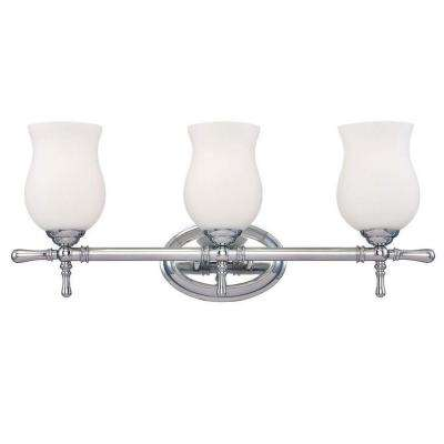 Regency Collection 3-Light Chrome Bath Bar Light