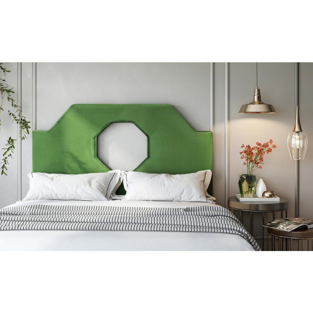 Tov Furniture Noctis Green Velvet Twin Headboard