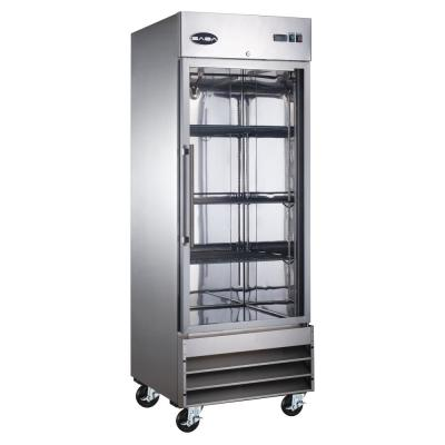 23 cu. ft. One Glass Door Commercial Reach In Upright Freezer in Stainless Steel