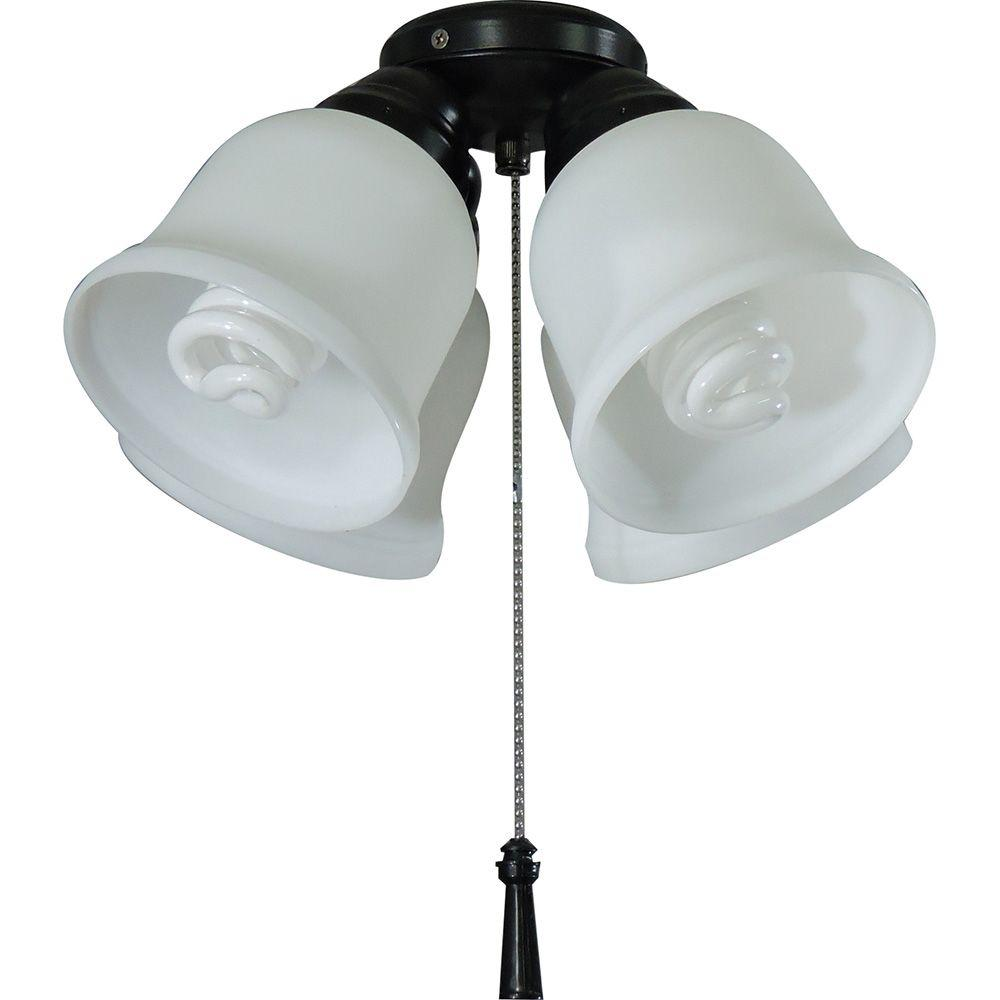 Hampton Bay 4 Light Universal Ceiling Fan Kit With Shatter Cover On Fans Wiring Resistant Shades