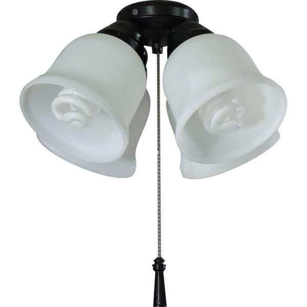 Hampton Bay 4 Light Universal Ceiling Fan Light Kit With Shatter Resistant Shades 64306 The Home Depot