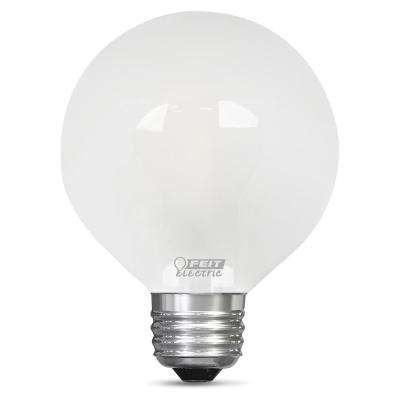 60-Watt Equivalent Soft White G25 Dimmable Frost LED Light Bulb
