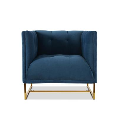 Royce Satin Teal Accent Chair