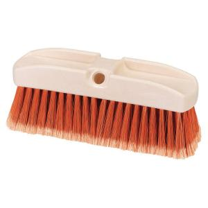 Carlisle 8 inch Orange Polystyrene Window Scrub Brush (Case of 12) by Carlisle