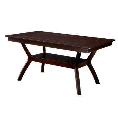 Brent Dark Cherry Transitional Style Dining Table