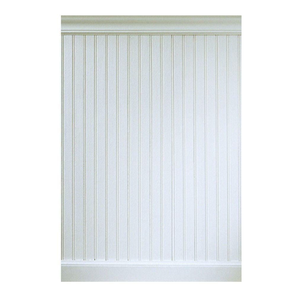 House Of Fara 5/16 In. X 5 29/32 In. X 32 In.   8 Lin. Ft. MDF Overlapping Wainscot  Interior Paneling Kit 32MDFKIT   The Home Depot