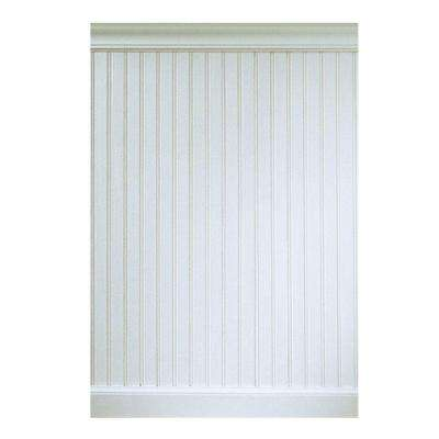 5/16 in. x 5-29/32 in. x 32 in. - 8 lin. ft. MDF Overlapping Wainscot Interior Paneling Kit