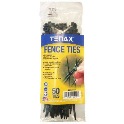 1/8 in. x 1/8 in. x 7.5 in. Black Poly Fence Ties (50-Pack)