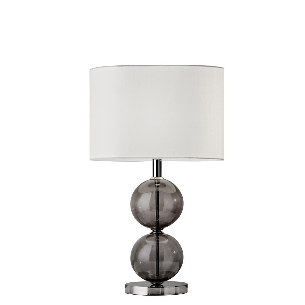 Nickel Tall Table Lamp