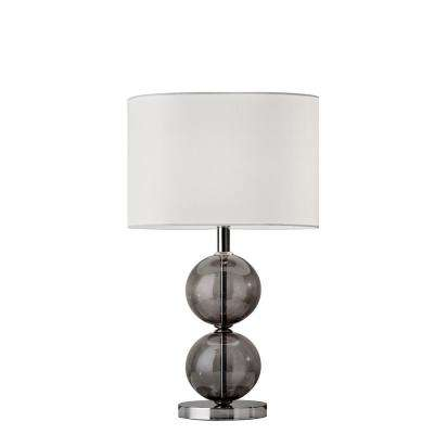 Donna 25 in. Nickel Tall Table Lamp