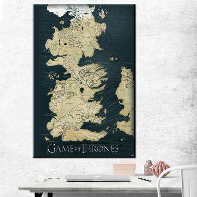 """24 in. x 36 in. """" Game of Thrones Map"""" Printed Canvas Wall Art"""