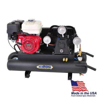 10 Gal. 9 HP Portable Gas Wheelbarrow Air Compressor with Honda GX270 Engine