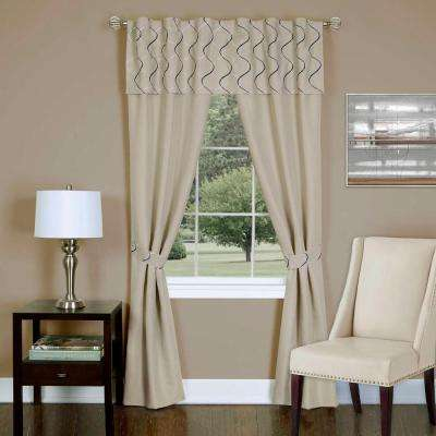 Sheer Trellis Window Curtain Set