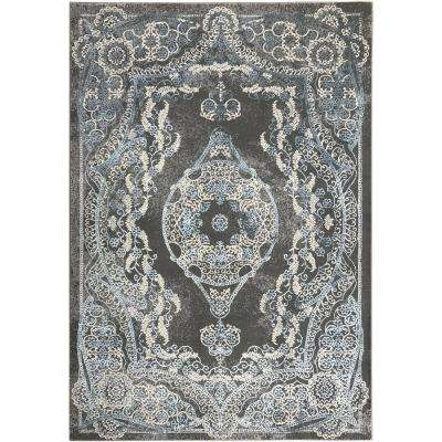 Silky Gold Collection Saphire Kingdom 3 ft. x 5 ft. Anti-Bacterial Area Rug