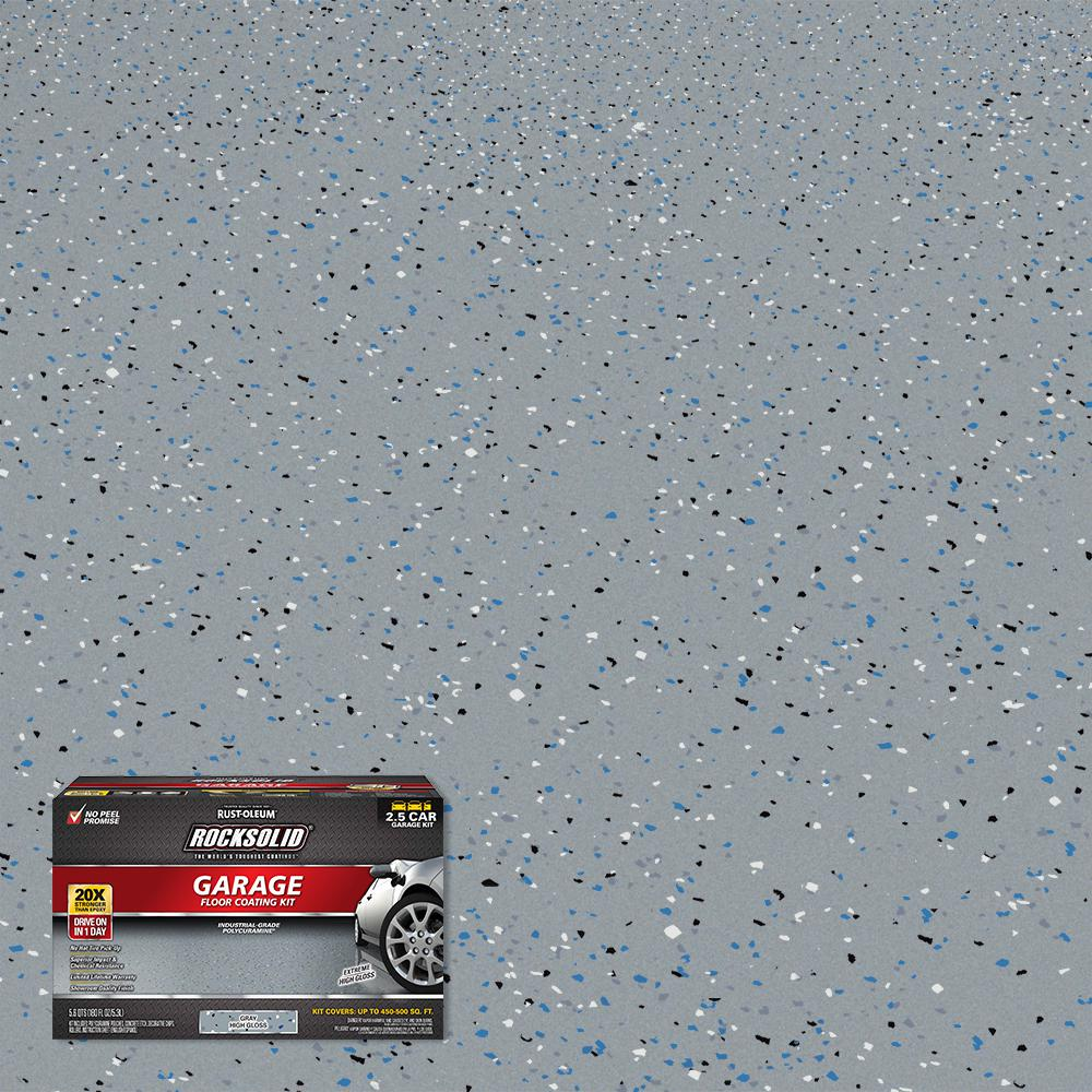 Rust-Oleum RockSolid 180 oz. Gray Polycuramine 2.5 Car Garage Floor Kit